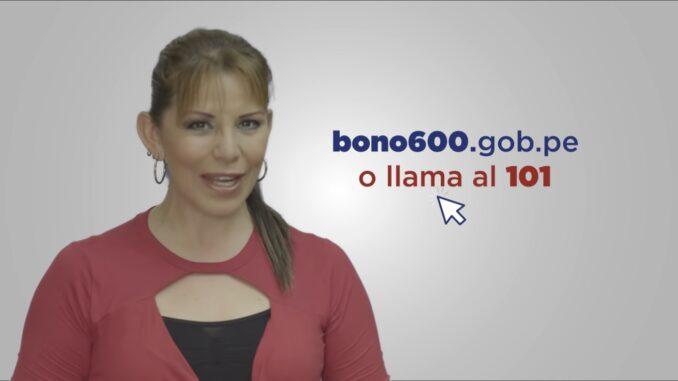 Bono 600 soles gop.pe